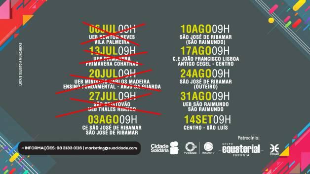 Veja os próximos locais de eventos do Cidade Solidária