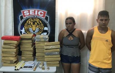 Polícia Civil apreende 50 kg de maconha no Parque Araçagy