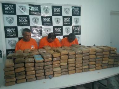 Polícia Civil apreende cerca de 300 kg de drogas no Maranhão