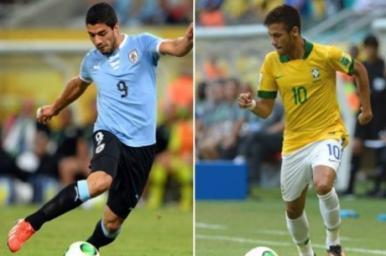 Brasil enfrenta o superataque uruguaio nesta quarta-feira (26) para chegar à final da Copa das Confederações