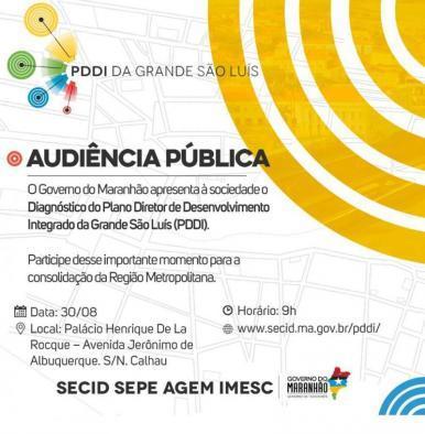 Governo apresenta diagnóstico que vai auxiliar no Plano Diretor de São Luís