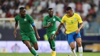 Seleção Brasileira vence amistoso contra a Arábia Saudita