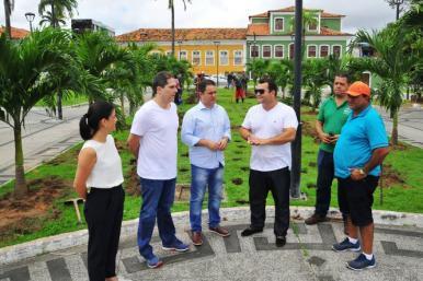 Praça Gonçalves Dias ganha novo projeto paisagístico executado pela Prefeitura de São Luis