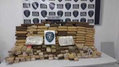 Polícia Civil apreende cerca de 300 kg de maconha em Raposa