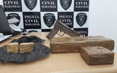 Polícia Civil apreende 1 kg de maconha com jovem em Timon