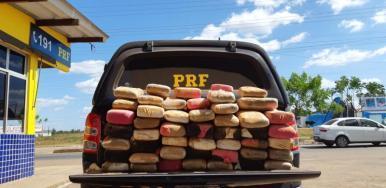 PRF apreende 100 kg de maconha em Santa Luzia-MA