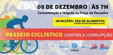Abertas as inscrições para o passeio ciclístico contra a corrupção