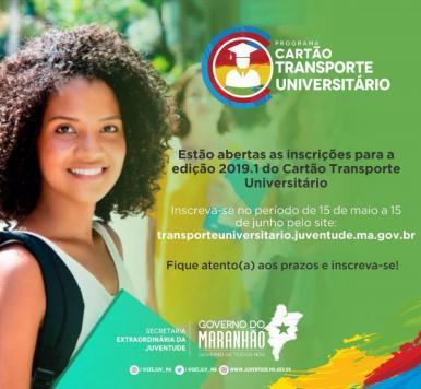Governo lança edital do Programa Cartão Transporte Universitário 2019.1