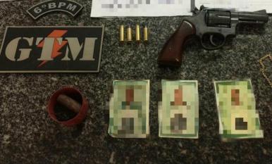 Polícia apreende arma de fogo na Vila Riod