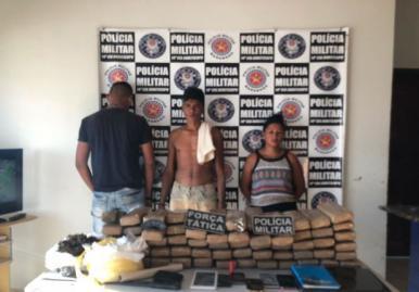 Polícia Militar apreende 60 kg de maconha em Buriticupu