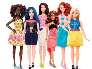 Mattel lança Barbie mais realista em sete tons de pele