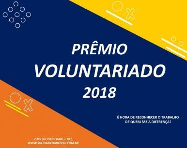 Abertas as votações para os indicados ao Prêmio Voluntariado 2018