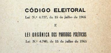 Código Eleitoral completa 52 anos neste sábado (15)