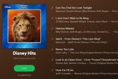 Disney lança no Spotify playlists com músicas de seus filmes