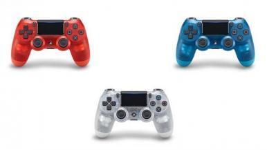 PS4 ganhará versões transparentes do controle DualShock 4