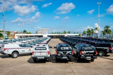 Mais 90 viaturas são entregues para reforço do policiamento no MA