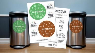 Campanha estimula separação e descarte correto de lixo