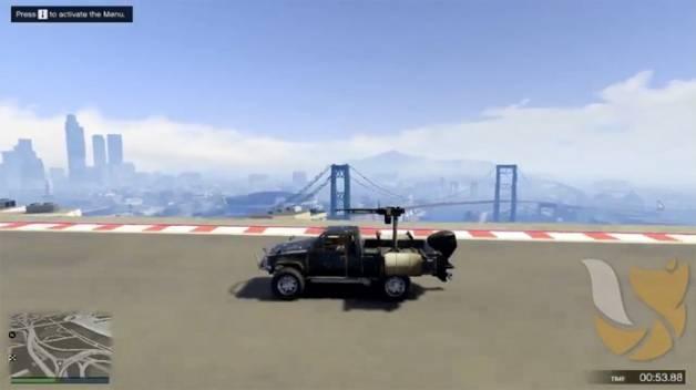 O veículo anfíbio Technical Aqua de GTA