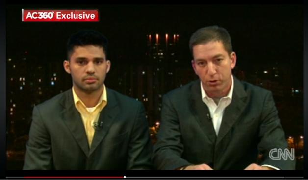 David Miranda e seu parceiro Glenn Greenwald